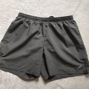 ASICS gray running shorts size Sm EUC